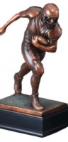 Antique Football Runner Sculpture