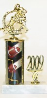 Double Football Action Trophy