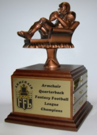 Fantasy Football League Trophies Armchair Quarterback